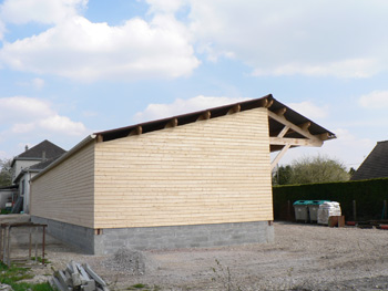 sarl lenoir 76 fabricant d 39 abri bois haut de gamme mini hangars ossature bois abri. Black Bedroom Furniture Sets. Home Design Ideas
